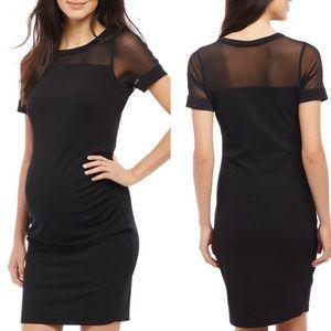 Motherhood Maternity Short Sleeve Black Dress